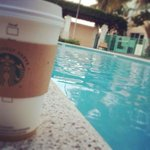 starbucks by the pool!