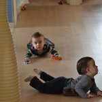 Our 10 month old twin boys had a lot of space to crawl around & explore