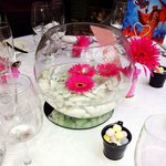 Table Decorations supplied by Compass Inn