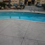 Very nice, clean pool and patio area.