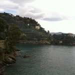 View along the road from Portofino (not on the grounds)