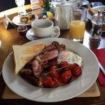 Eight Bells B&B Full English Breakfast - delicious!