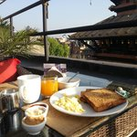 Breakfast served with a view the golden roof!