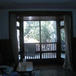 Curtains and View from window