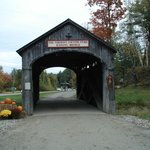 They even have an original wooden covered bridge