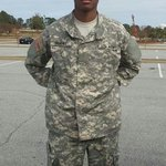 This is my handsome son. Fort Jackson family day.