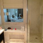 from bathroom, looking into room