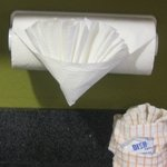 Cute way to style paper towels in kitchen