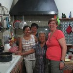 With the wonderful women of Casa Panchita in their Great Kitchen
