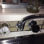 Kitchen sink with mould