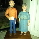One of the guests carved this ! Spitting image of the innkeepers!