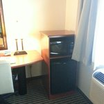 Refrigerator and Microwave in room