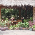 Thatched dining area