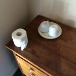 Toilet roll, No toilets. Cups, No kettle...