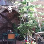 Back patio at Ludy's Bar B Que, in Woodland, CA.