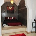 The stunning bedroom in the Saffron Room.