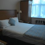 Good sized bed but very warm room