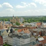 View of castle and Schwerin from top of church