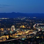 Night view of Roanoke,VA from Mill Mountain Star
