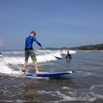 FBRA 7th-grader Cullen catches his first wave with Bodhi Surf!