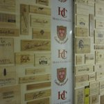 Calissano apartments: Winery plaques in the parking garage
