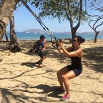 Morning TRX workout at the Beach!