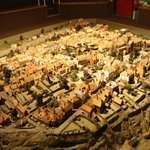 Model of Rye town in olden days