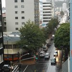 Looking up Willis Street from the 6th floor