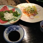 famous Kumamoto horse meat sashimi...eat it raw...it's great