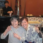 Wakaba 70 yrs old grandma (left)...super great service staff