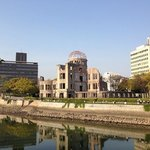bomb dome building just one block away