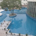 view of landscaped pool