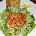 Caesar Salad with your choice of salmon, oysters, grilled chicken or calamari