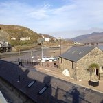 Barmouth Harbour and Afon Mawddach tunnel and railway bridge
