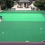 Free mini golf & bocca court. Breakfast is served in the gazebo. Pool is behind