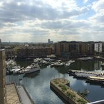 View over Limehouse Lock from the balcony
