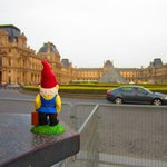 Traveling Gnome at the Louvre