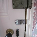 Selection of (non-functioning) door locks in bedroom