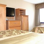Our two double bed guest room is spacious and offers you a comfort