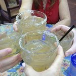 Cheers! Always a good time at the Blue Coyote Grill!