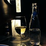 Chardonnay and a bottle of water, Blu Kitchen and Bar  |  1675 Park Ave, Brandon, Manitoba, Cana