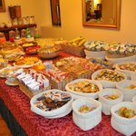 The great selection of the breakfast buffet