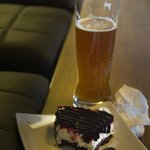 Indulge yourself with sweets and white beer in the hotel lounge