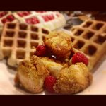 Waffles and fried chicken!