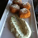 Risotto Cakes with Preserved Lemon & Fennel Cilantro Aioli