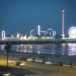 The Pleasure Pier at night