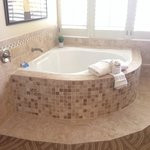 In room jacuzzi tub