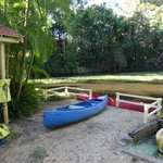 Tropic Oasis canoes on the lake