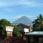 View of Mayon from outside the hotel