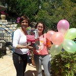 57. Galila and Jessica gave me a birthday surprise present with balloons at Hameiri Estate B&B,